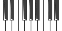 Vector black piano key icon Stock Illustration