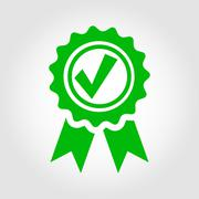 Vector green approved certificate icon Stock Illustration