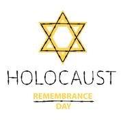 Vector holocaust remembrance day. January 27. - stock illustration