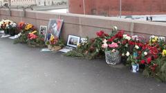 Big Moskvoretsky bridge, a place of Boris Nemtsov murder. Stock Footage
