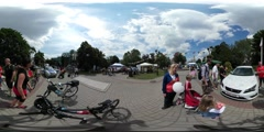 360Vr Video People at Children's Day Opole People Have a Good Time Riding a Stock Footage