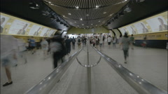 Timelapse of people moving through transfer st Shanghai subway. Stock Footage
