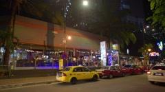 Night city traffic view of down town in Kuala Lumpur Malaysia Stock Footage