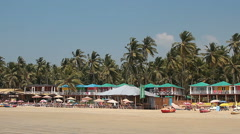Houses and huts on the Palolem beach Stock Footage