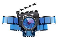 Online movie theater cinema icon design Piirros