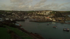 Mevagissey fishing village and harbour Cornwall England Stock Footage