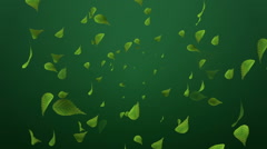 Spreading 3D Leaves - Motion background - stock footage