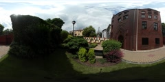 360Vr Video Panorama of University Place Opole Tourism Day Downtown Old Stock Footage