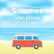 summer surf vacations - stock illustration