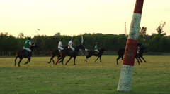 University  International Polo challenge. Slight slow motion. N Editorial use Stock Footage