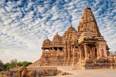 Kandariya Mahadeva Temple, Khajuraho, India-UNESCO world heritage site Stock Photos