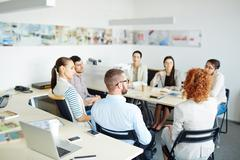 Gathering of managers Stock Photos