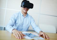 Virtual work Stock Photos