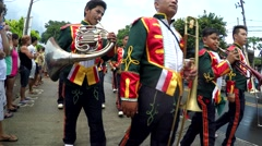 May flower pageantry musical band Stock Footage