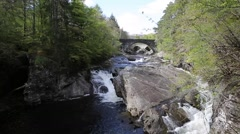 Beautiful Scotland uk Invermoriston bridge Scottish tourist attraction Stock Footage