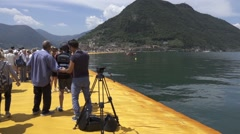 Tourists on Christo and Jeanne-Claude's  Stock Footage