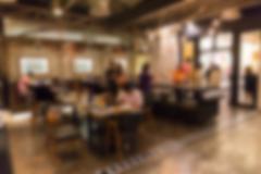 cafe coffee shop restaurant interior, blur and defocus - stock photo