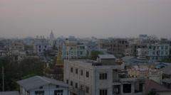 Skyline sunset over Mandalay, Myanmar Stock Footage