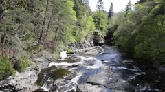 River Moriston by Invermoriston bridge Scotland UK Scottish tourist destination Stock Footage