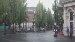 Portland Trolley Tilt Shift - stock footage
