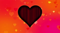Romantic Colorful Hearts Motion Background Hearts Orange Pink Stock Footage