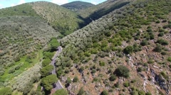 Overhead view of mountain s shaped road - stock footage