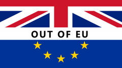Brexit Out of EU Stock Footage