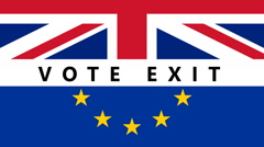 BREXIT Vote Exit Stock Footage