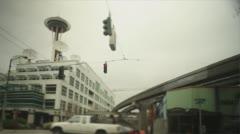 Seattle Street Corner Stock Footage