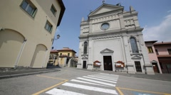 In italy castronno varese  ancient   building Stock Footage