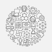 Innovation creative illustration - stock illustration