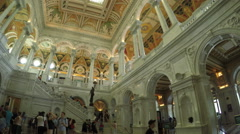 The Great Hall of the Library of Congress in Washington DC Stock Footage