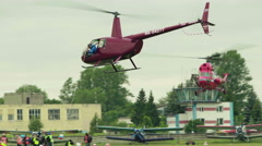 Helicopter sport flying. Helicopter aerobatics Stock Footage
