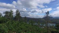 Tea plantation hills on Sri Lanka Stock Footage