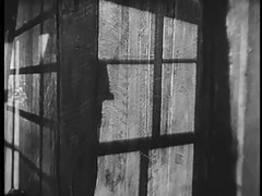 Point of view shot of the interior of an abandoned house, 1940s Stock Footage