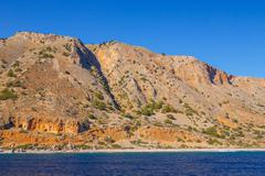 South coast of Crete near Agia Roumeli, Greece Stock Photos