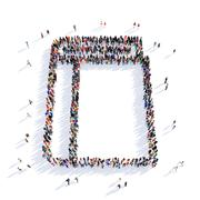 people notebook shape 3d - stock illustration
