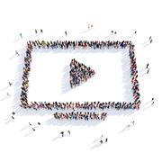 people reel of film shape 3d - stock illustration