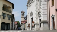 in italy castronno varese  ancient   building - stock footage