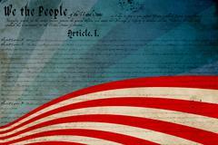 Declaration of independence against focus on line Stock Illustration
