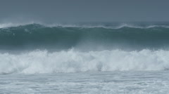 sea ocean water slow motion liquid waves coast - stock footage