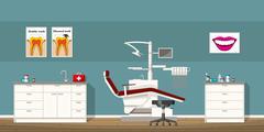 Illustration of a dentist room Stock Illustration