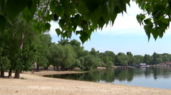 Sandy shore. Early summer. Stock Footage
