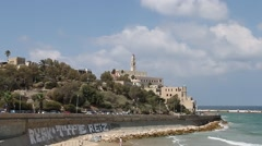 View of Old Jaffa Stock Footage