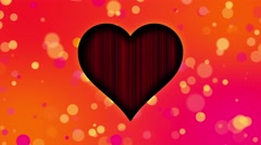 Romantic Colorful Hearts Motion Background Circles Orange Pink Stock Footage