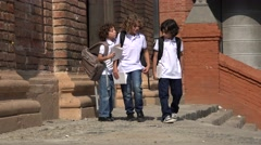 Child Prep School Students Stock Footage