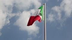 Italy  waving flag. Stock Footage