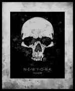 skull print/skull illustration/evil skull/concert posters/skull canvas print/ - stock illustration