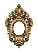 Gold vintage frame - stock photo