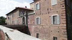 In italy fagnano castle Stock Footage